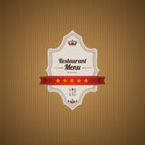 Klasyczny Restauracyjny menu szablon Fotografia Royalty Free