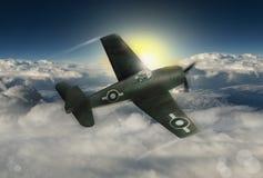 Klasyczny rocznik wojny światowa 2 USA samolot szturmowy Obraz Royalty Free