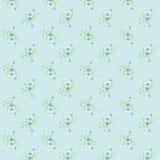 Klasyczny rocznika kwiatu wzór w Błękitnym tle Obrazy Royalty Free