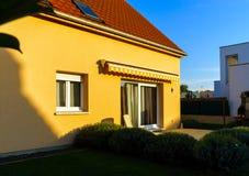 Klasyczny rodzina dom w małej francuskiej wiosce Obraz Royalty Free