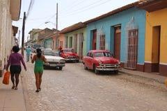Klasyczny samochód w Trinidad, Kuba Zdjęcie Royalty Free