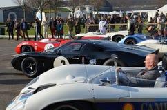 Klasyczny samochód wyścigowy przy 72nd GRRC członków spotykać Obraz Royalty Free