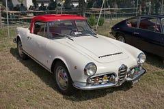 Klasyczny samochodowy Alfa Romeo Giulietta pająk 1600 1964 zdjęcia royalty free