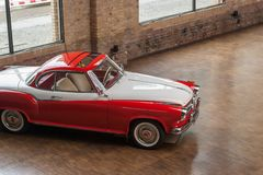 Klasyczny samochodowy Borgward Isabella Coupe obraz royalty free