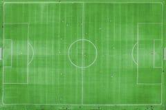 Klasyczny stadium od ptaka oka widoku trutnia widok Zielony Footbal zdjęcia royalty free