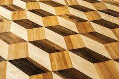 Klasyczny stary drewniany parkietowy podłoga wzór Obraz Royalty Free