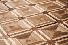 Klasyczny stary drewniany parkietowy projekt obrazy stock