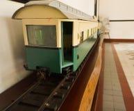 Klasyczny stary pociąg przy muzealną fotografią brać w Semarang Indonezja Obrazy Stock