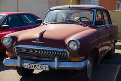 Klasyczny stary Radziecki samochód Zdjęcie Royalty Free