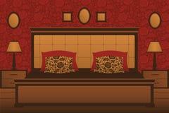 Klasyczny sypialni wnętrze Obrazy Royalty Free