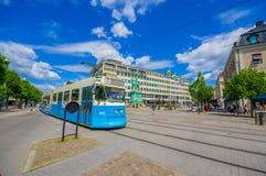 Klasyczny tramwaj w Kungsporten kwadracie, śródmieście fotografia stock