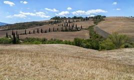 Klasyczny Tuscany krajobraz fotografia royalty free