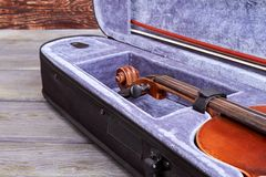 Klasyczny używać skrzypce jeśli zakończenie up obrazy royalty free