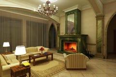klasyczny utrzymania marmuru pokoju styl Royalty Ilustracja