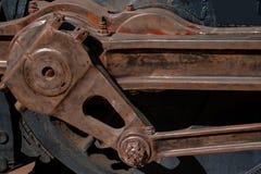 Klasyczny węgiel jadący lokomotywa kierowca i prącie Zdjęcie Royalty Free