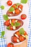 Klasyczny włoski bruschetta zdjęcie stock