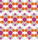 Klasyczny wektorowy tapetowy bezszwowy rocznika kwiatu wzoru tło Fotografia Royalty Free