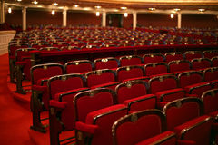 klasyczny wewnętrznego teatr Fotografia Royalty Free