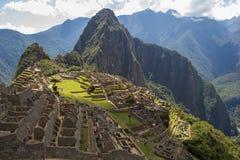 Klasyczny widok Mach Picchu dalej Obrazy Stock