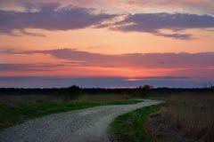 Klasyczny wieś krajobraz Zdjęcie Royalty Free