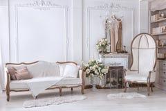 Klasyczny wnętrze Żywy pokój Zdjęcie Royalty Free