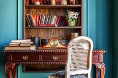 Klasyczny wnętrze domowa biblioteka 3d Zdjęcia Royalty Free