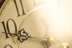 Klasyczny zegar w złocie Fotografia Stock