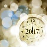 Klasyczny zegar z liczbą 2017 Zdjęcie Stock