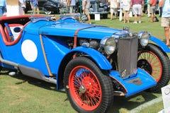 Klasycznych 1940s brytyjski samochód wyścigowy Obrazy Stock