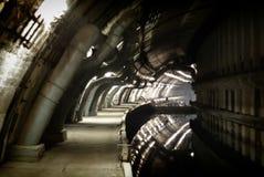 Klasyfikujący militarny przedmiot K-825 - podziemna łodzi podwodnej baza Zdjęcia Royalty Free