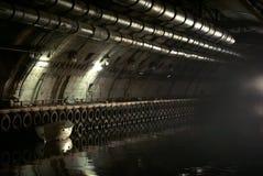 Klasyfikujący militarny przedmiot K-825 - podziemna łodzi podwodnej baza Zdjęcie Stock