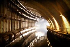 Klasyfikujący militarny przedmiot K-825 - podziemna łodzi podwodnej baza Obraz Royalty Free
