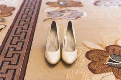 Klasyków buty na dywanie Obraz Stock