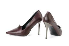 Klasyków buty odizolowywający na bielu Zdjęcie Royalty Free