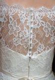 Klasyków guziki na plecy ślubna suknia i koronka Zdjęcie Royalty Free