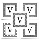 Klasyków kwadratowi logowie Fotografia Royalty Free