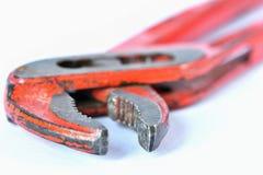 Klasyków narzędzia dla rutynowych napraw pojedynczy białe tło Zdjęcia Stock