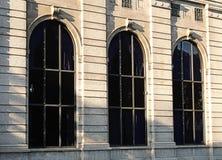 Klasyków łukowaci okno Obrazy Stock