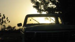 Klasyk ciężarowa sylwetka w afryka zachodnia Obraz Royalty Free