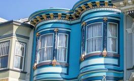 Klasyk domowa architektura San Fransisco budynki, Kalifornia obrazy royalty free