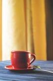 Klasyk dwoista kawa espresso na drewno stole Fotografia Royalty Free