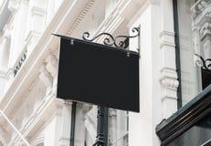 Klasyk firmy ściany signboard stylowy pusty wiszący mockup obraz stock