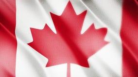 Klasyk flaga Gładka Istny wideo wielki Kanada flaga dmuchanie w wiatrze zbiory