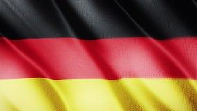 Klasyk flaga Gładka Istny wideo wielki Niemcy flaga dmuchanie w wiatrze zbiory wideo