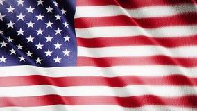 Klasyk flaga Gładka Istny wideo wielki Zlany stan flaga dmuchanie w wiatrze zbiory wideo