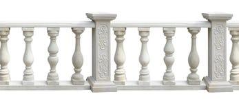 Klasyk kamienna balustrada z kolumną odizolowywającą nad bielem ilustracji