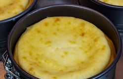 Klasyk piec waniliowy cheesecake obrazy royalty free