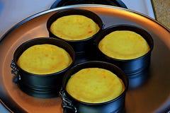 Klasyk piec waniliowy cheesecake fotografia stock