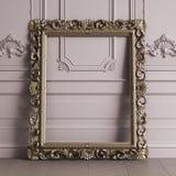 Klasyk rzeźbiący lustro ramy mockup z kopii przestrzenią royalty ilustracja