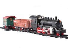 Klasyk zabawki pociąg odizolowywający na białym tle Fotografia Stock